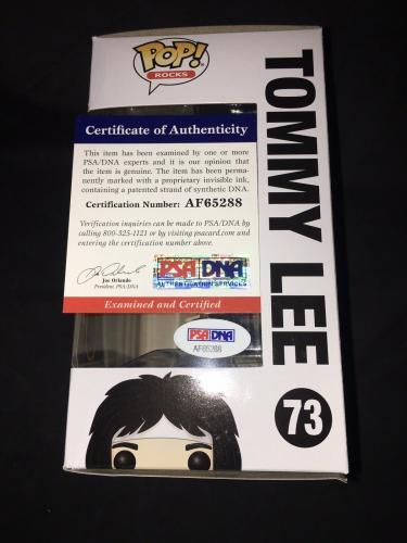 Tommy Lee Signed Official Motley Crue Funko Pop Vinyl Figure PSA/DNA