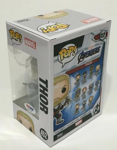 Chris Hemsworth Signed Marvel 'Avengers:Thor' Funko Pop #452 PSA AF41733