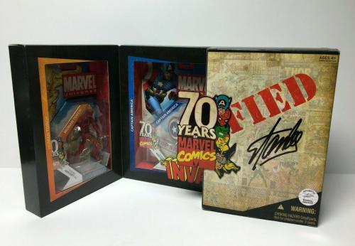 Stan Lee Signed San Diego Comic Con Exclusive Marvel Universe Action Figures COA