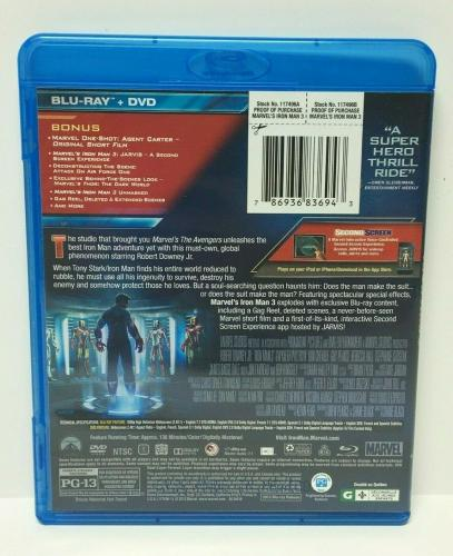 Stan Lee Signed Marvel 'Iron Man 3' Blu Ray Disc Set PSA Y36016