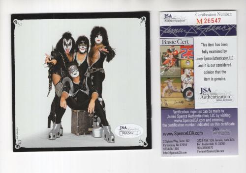 Kiss Alive Iv Hand Signed Cd Booklet       Paul Stanley+gene+peter           Jsa