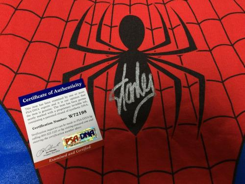Stan Lee Signed Marvel Spider-Man T-Shirt *Excelsior PSA W72198