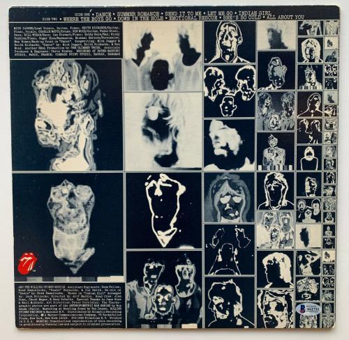 Keith Richards Autographed Rolling Stones Emotional Rescue vinyl album BAS becke