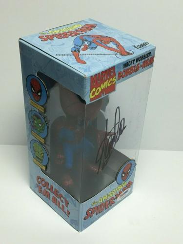 Stan Lee Signed Marvel Comics: Spider-Man Wacky Wobbler Bobble-Head PSA X08575