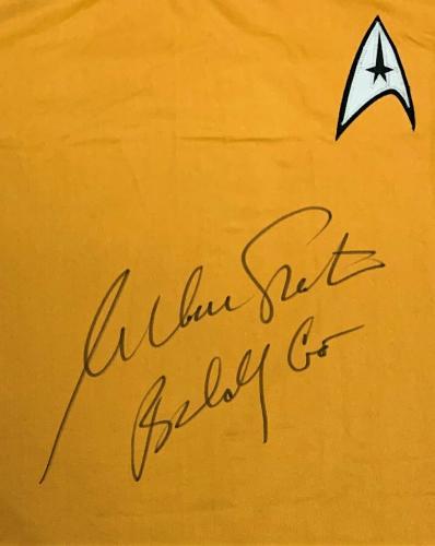 "William Shatner ""Boldly Go"" Autographed Star Trek Shirt JSA Authentication"