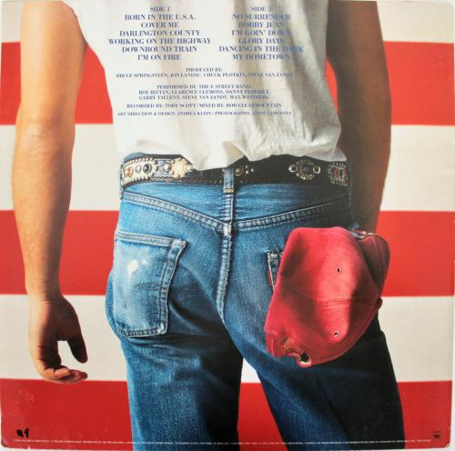 Bruce Springsteen Signed Born In The USA Album Cover W/ Vinyl BAS #A78563