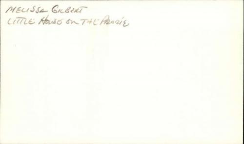 """Melissa Gilbert Actress Little House on the Prairie Signed 3"""" x 5"""" Inde ID: 4513"""