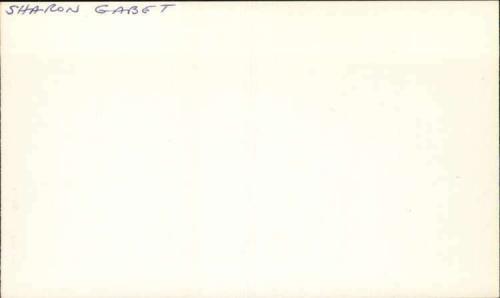 "Sharon Gabet Actress The Edge of Night Signed 3"" x 5"" Index Card"