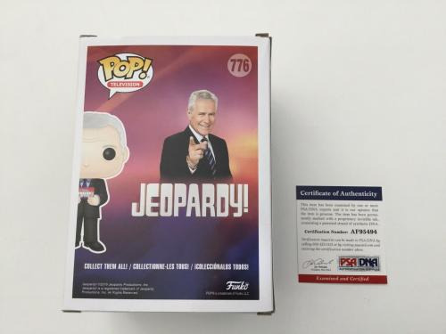 Alex Trebek Signed Autographed Jeopardy Funko Pop PSA DNA COA b