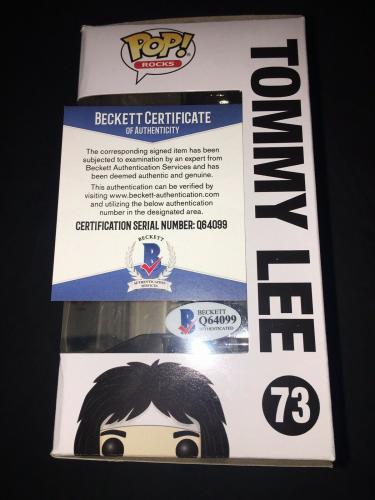 Tommy Lee Signed Official Motley Crue Funko Pop Vinyl Figure Beckett #3