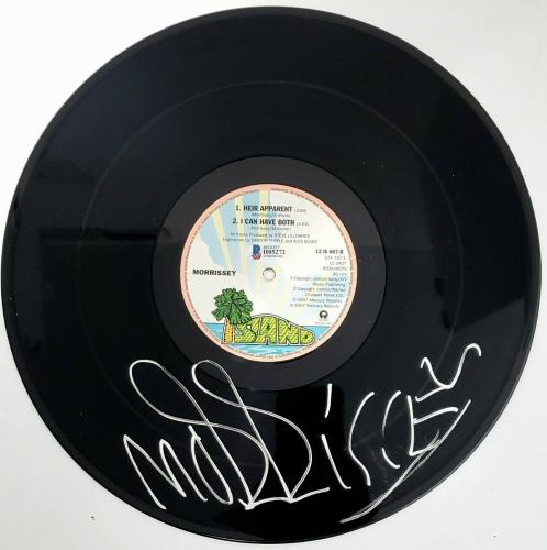 """MORRISSEY Signed Autographed """"ALMA MATTERS"""" Record BECKETT BAS #H05272"""