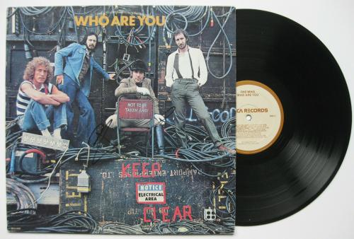 Pete Townshend signed autographed Who are you album,The Who, Vinyl Record, Proof