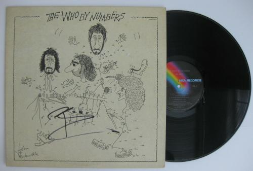 Pete Townshend signed autographed The Who by numbers album, Vinyl Record, Proof