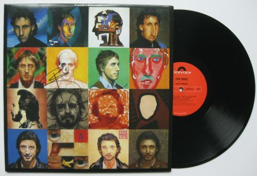 Pete Townshend signed autographed The Who Face Dances album, Vinyl Record, Proof