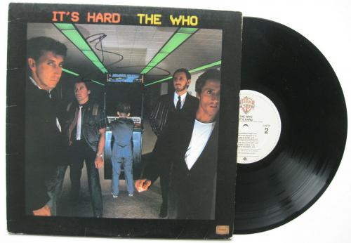 Pete Townshend signed autographed The Who It's Hard album, Vinyl Record, Proof