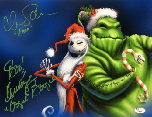 Chris Sarandon Ken Page Signed Nightmare Before Christmas 11x14 Photo JSA