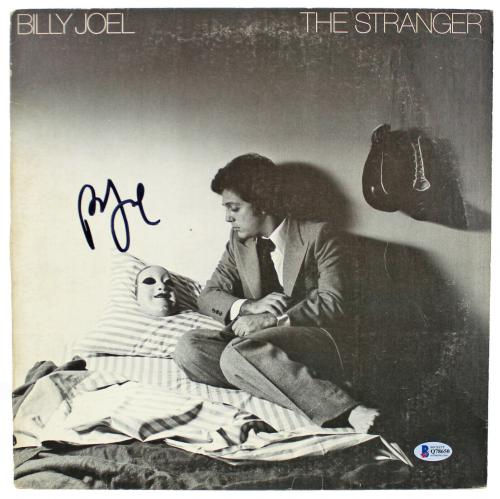 Billy Joel Signed The Stranger Album Cover Autographed BAS #Q78650