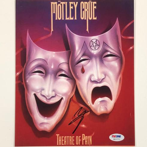 Motley Crue singer Vince Neil signed Theatre of Pain 8x10 photo PSA Witness COA