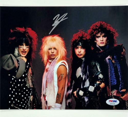 Motley Crue lead singer Vince Neil autograph signed 8x10 band photo PSA/DNA COA