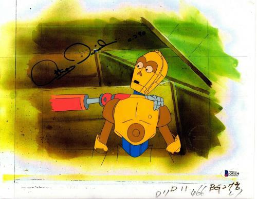 "ANTHONY DANIELS Signed Star Wars ""DROIDS"" Cartoon Animation Cel BAS #Q93230"