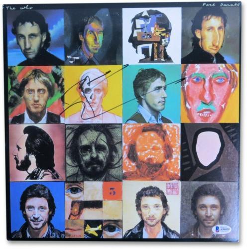 Pete Townshend Signed Autographed Album Cover The Who Face Dances BAS A96038