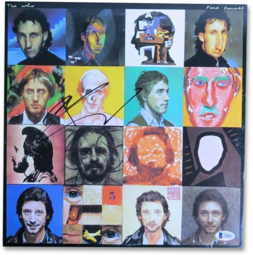 Pete Townshend Signed Autographed Album Cover The Who Face Dances BAS A96037