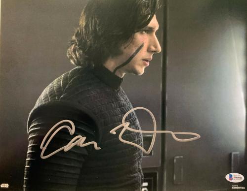 Adam Driver Signed Star Wars Jedi, Skywalker 11x14 Photo Kylo Ren Beckett BAS 5