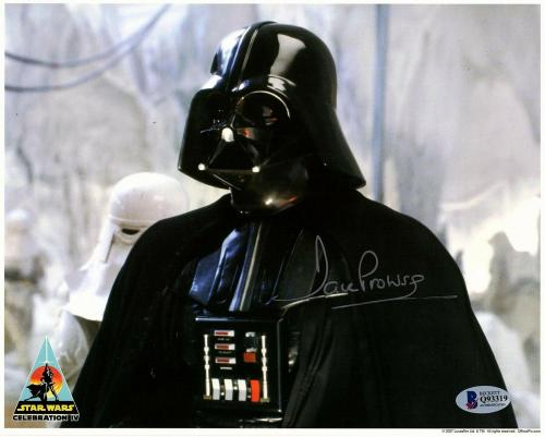 """DAVE PROWSE Signed """"Darth Vader"""" STAR WARS 8x10 Official Pix Photo BAS #Q93319"""