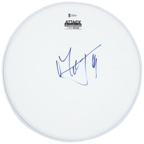 Mick Jagger Rolling Stones Autographed Drum Head - BAS