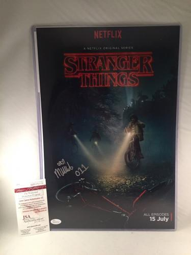 "MILLIE BOBBY BROWN SIGNED STRANGER THINGS 12x18 PHOTO JSA 4 ""ELEVEN"