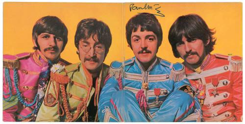 The Beatles Paul McCartney Signed Autographed Sgt Peppers Album Beckett BAS