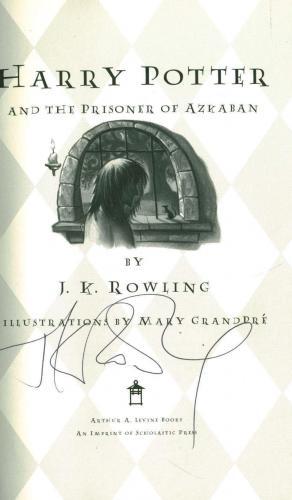 JK Rowling Signed Harry Potter Prisoner of Azkaban First Editio Book JSA