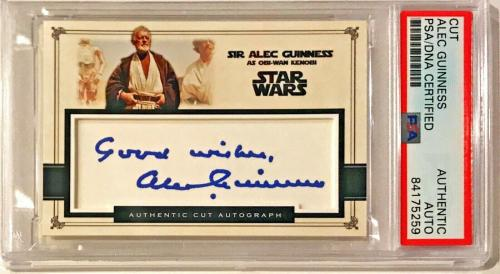 Alec Guinness Star Wars Signed Auto Custom Cut #'d 1/1 Trading Card PSA/DNA