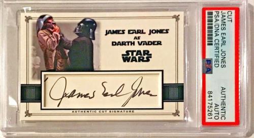 James Earl Jones Star Wars Signed Auto Custom Cut #'d 1/1 Trading Card PSA/DNA
