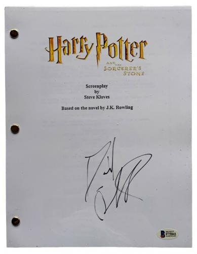 Daniel Radcliffe Signed Harry Potter And The Sorcerers Stone Script BAS F75841