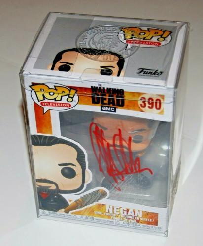 JEFFREY DEAN MORGAN signed (THE WALKING DEAD) *Negan* Funko pop #390 JSA COA #1