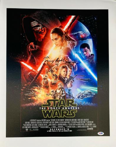 Daisy Ridley Signed Star Wars 16x20 Canvas Photo Movie Collage - Rey PSA DNA COA