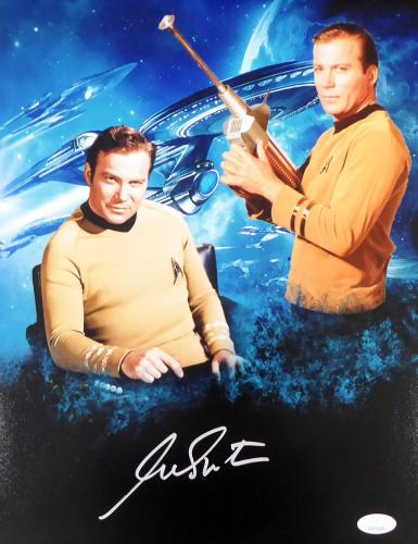 William Shatner Autographed 11x14 Photo Star Trek JSA Stock #159198