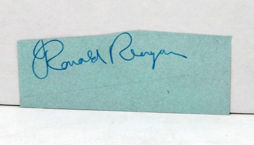 President Ronald Reagan Signed Autographed Cut Psa/dna P05669
