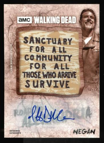 Jeffrey Dean Morgan 2018 Topps Walking Dead - Negan Patch Auto 6/10