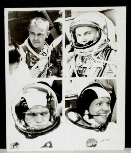 1969 Alan Shepard, John Glenn, Frank Borman, Neil Armstrong,  Dated Wire Photo