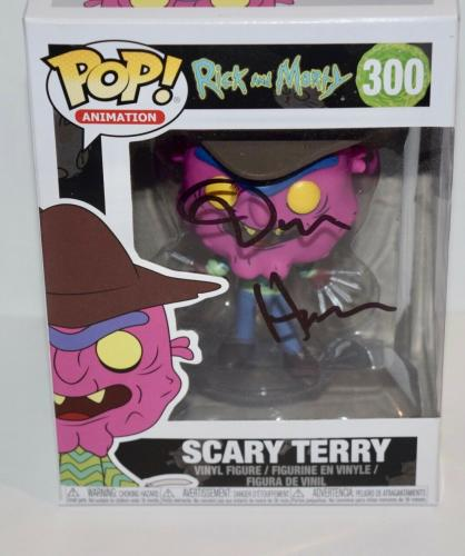 Dan Harmon Signed Autograph Rick and Morty SCARY TERRY 300 Funko Pop Figure COA