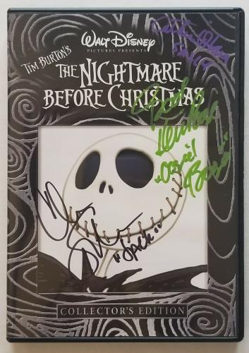 SARANDON, PAGE, O'HARA Signed NIGHTMARE BEFORE CHRISTMAS DVD COVER BAS COA AUTO