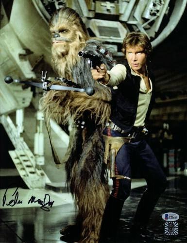 "PETER MAYHEW Signed  STAR WARS ""Chewbacca"" 11x14 Photo BECKETT BAS #F04267"