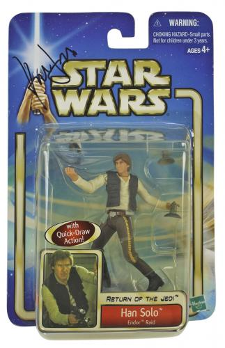 Harrison Ford Star Wars Signed Unopened Han Solo Endor Raid Action Figure PSA