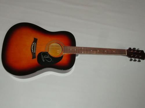 Russell Dickerson Signed Full-size Sunburst Acoustic Guitar Country Star Psa Coa