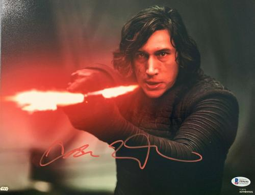 Adam Driver Signed Star Wars Jedi, Skywalker 11x14 Photo Kylo Ren Beckett BAS 8