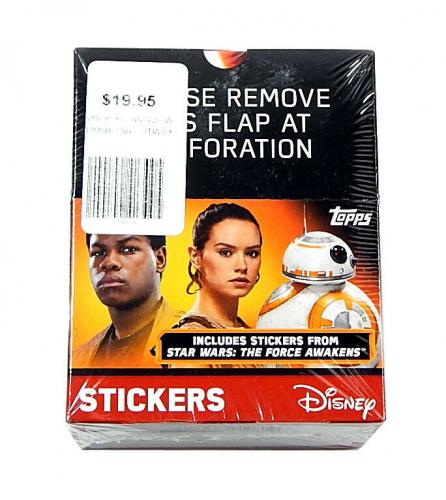 2016 Topps Star Wars The Force Awakens Part 1 Sticker Box Sealed