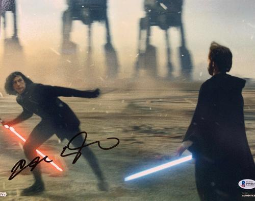 Adam Driver Signed Star Wars Jedi, Skywalker 11x14 Photo Kylo Ren Beckett BAS 17