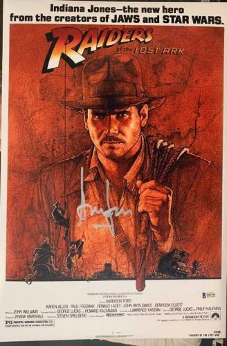 Harrison Ford Signed Star Wars Indiana Jones 12x18 Photo Poster Beckett BAS 2